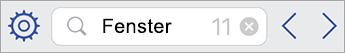 Suchfeld in Visio Viewer für iPad