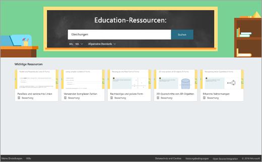 Suchfeld für Bildungsressourcen
