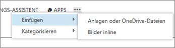 Datei in Kalenderelement einfügen