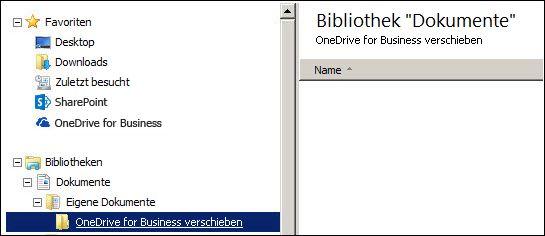 Ein Ordner für das Staging von Dateien, die nach Office 365 verschoben werden sollen