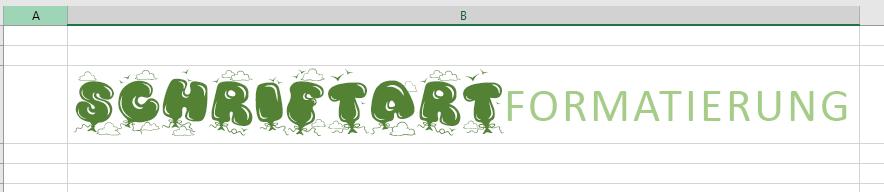 Verwenden der Rich-Text-Schriftart für mehrere Arten von Textformatierungen