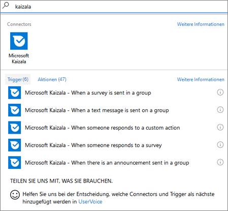 integrieren ihres workflows in kaizala mithilfe von