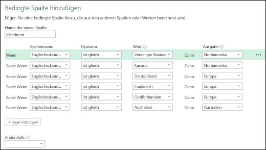 Power Query – Bedingte Spalten