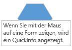 Eine Visio ScreenTip angezeigt wird, wenn sich der Mauszeiger über ein Shape.