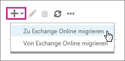 """Wählen Sie """"Zu Exchange Online migrieren"""" aus."""