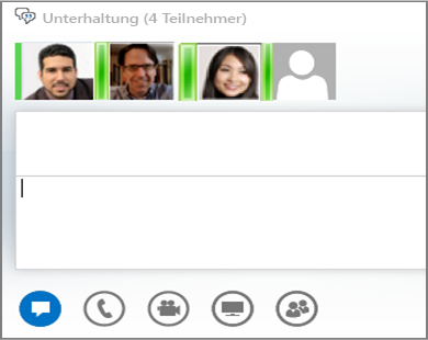 Screenshot zum Gruppenchat