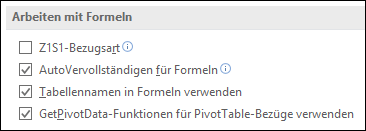 Datei > Optionen > Formeln > Arbeiten mit Formeln > Z1S1-Bezugsart