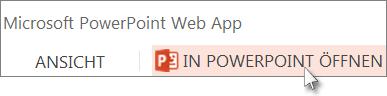 Ihre Präsentation in der PowerPoint-Desktopanwendung öffnen