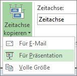 """Schaltfläche und Menü """"Zeitachse kopieren"""" in Project"""