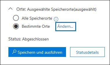 Klicken Sie auf ändern, um den Inhalt Speicherorte der Abfrage integrierte Suche ändern.