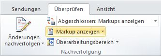 """Befehl """"Markup anzeigen"""""""
