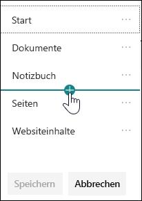 Link in der linken Navigation einfügen