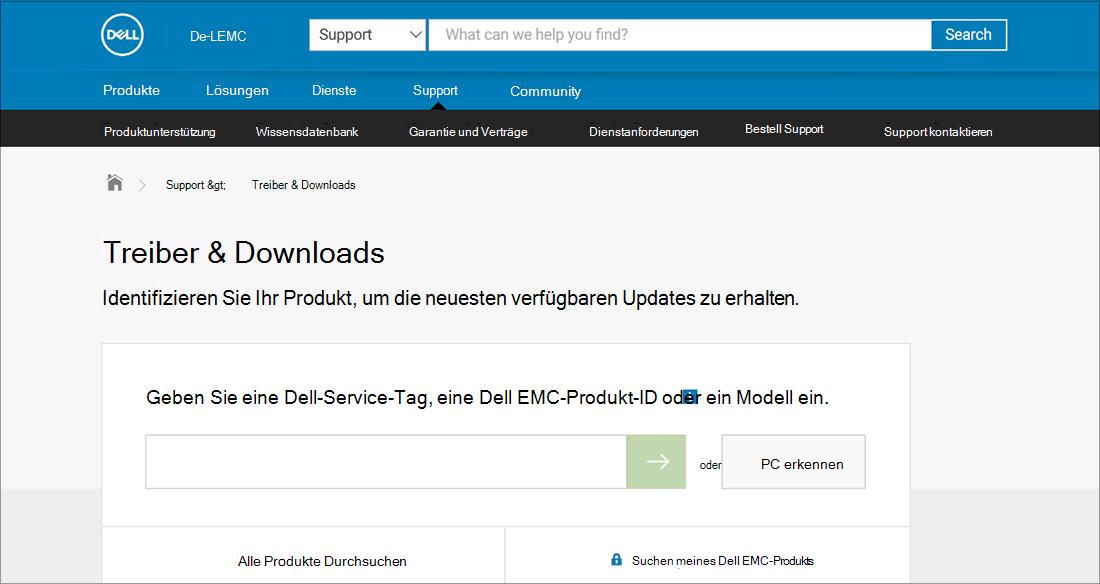 Dell Treiber und Downloads OEM-Beispiel