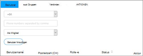 Screenshot: Hinzufügen von Benutzern zu Gruppen Kaizala