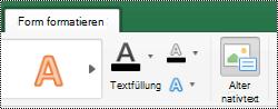 """Schaltfläche """"Alternativ Text"""" für Shapes im Menüband in Excel für Mac"""