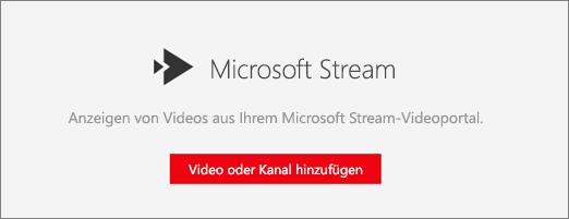 Microsoft Stream-Webpart