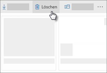 Screenshot zum Löschen einer Datei in OneDrive