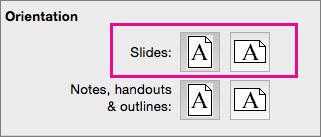 """PowerPoint für Mac, """"Seitenausrichtung"""""""
