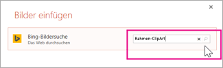 Suchen nach Rahmen-ClipArts in Bing