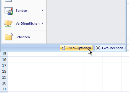 Excel-Optionen