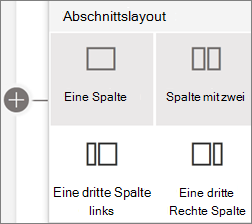 Abschnitts Layouts