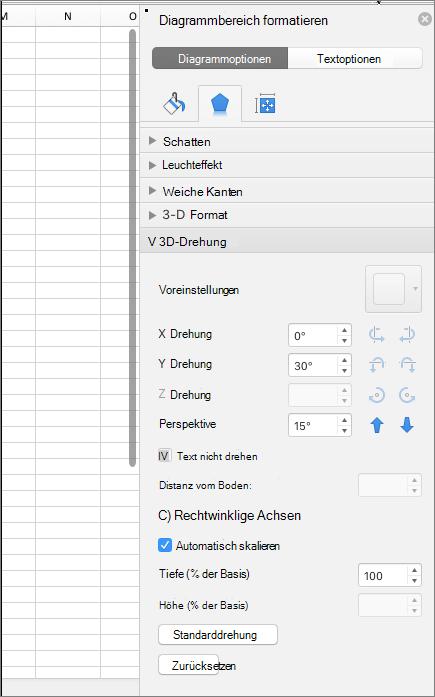 Bereich ' Diagrammbereich formatieren '