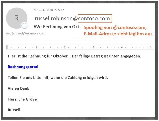 Phishing-Nachricht - Business-e-Mail Kompromisse