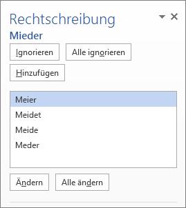 """Bereich """"Rechtschreibung"""""""