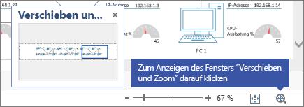 """Fenster """"Verschieben und Zoom"""" über einem Diagramm"""