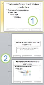 Folienmaster mit Layouts
