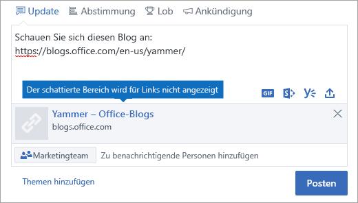 Die Link Vorschau wird in Internet Explorer 10 Dokument-Modus nicht angezeigt