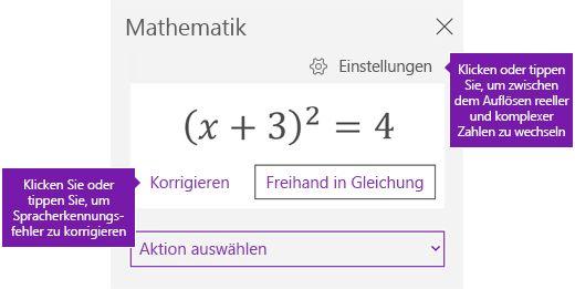 Eine Formel im Aufgabenbereich Mathematik