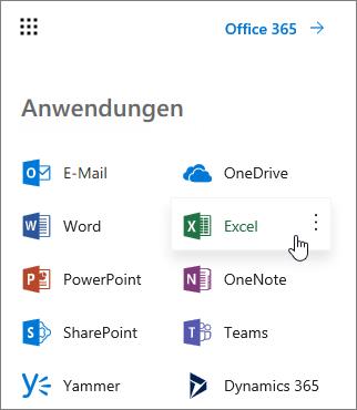 Erstellen einer Arbeitsmappe in Excel Online - Excel
