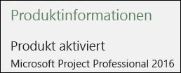 Produktinformationen – Project Professional 2016