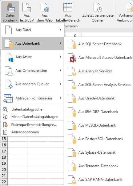 Erste Schritten mit abrufen und Transformieren in Excel - Excel