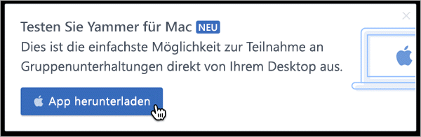 Produktinternes Messaging für Mac