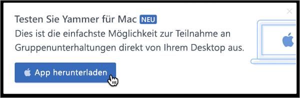 Produkt messaging für Mac