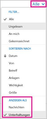 "Dropdown ""Alle"""