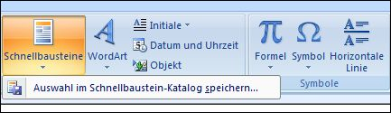 Outlook 2007 Quick-Webparts