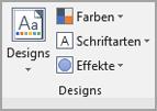 Klicken Sie auf Seiten Layout > Designs.