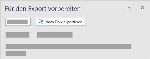 Wählen Sie im Abschnitt Microsoft Flow auf der Registerkarte Prozess den Eintrag Exportieren aus.