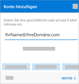 Geben Sie Ihre E-Mail-Adresse ein.