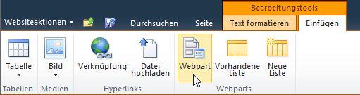 Befehl 'Webpart'