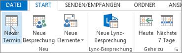 "Kalender > ""Neuer Termin"""