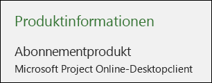 Projektinformationen für Project Online-Desktopclient