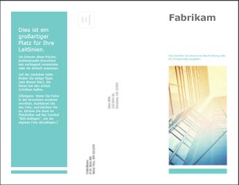 Broschürenvorlage in PowerPoint Online