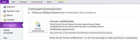 InfoPath-Listenformulare für SharePoint