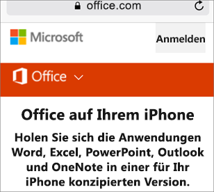 Wechseln Sie zu office.com.