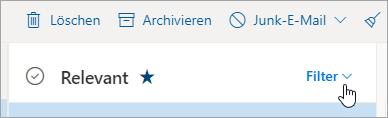 "Screenshot der Schaltfläche ""Filter"""
