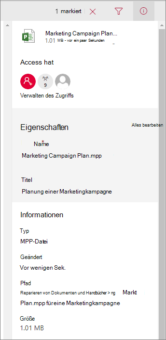 Dateiinformationen anzeigen